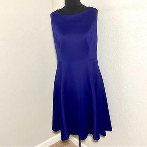 DKNY Sleeveless Fit & Flare Dress Purple Sz 14